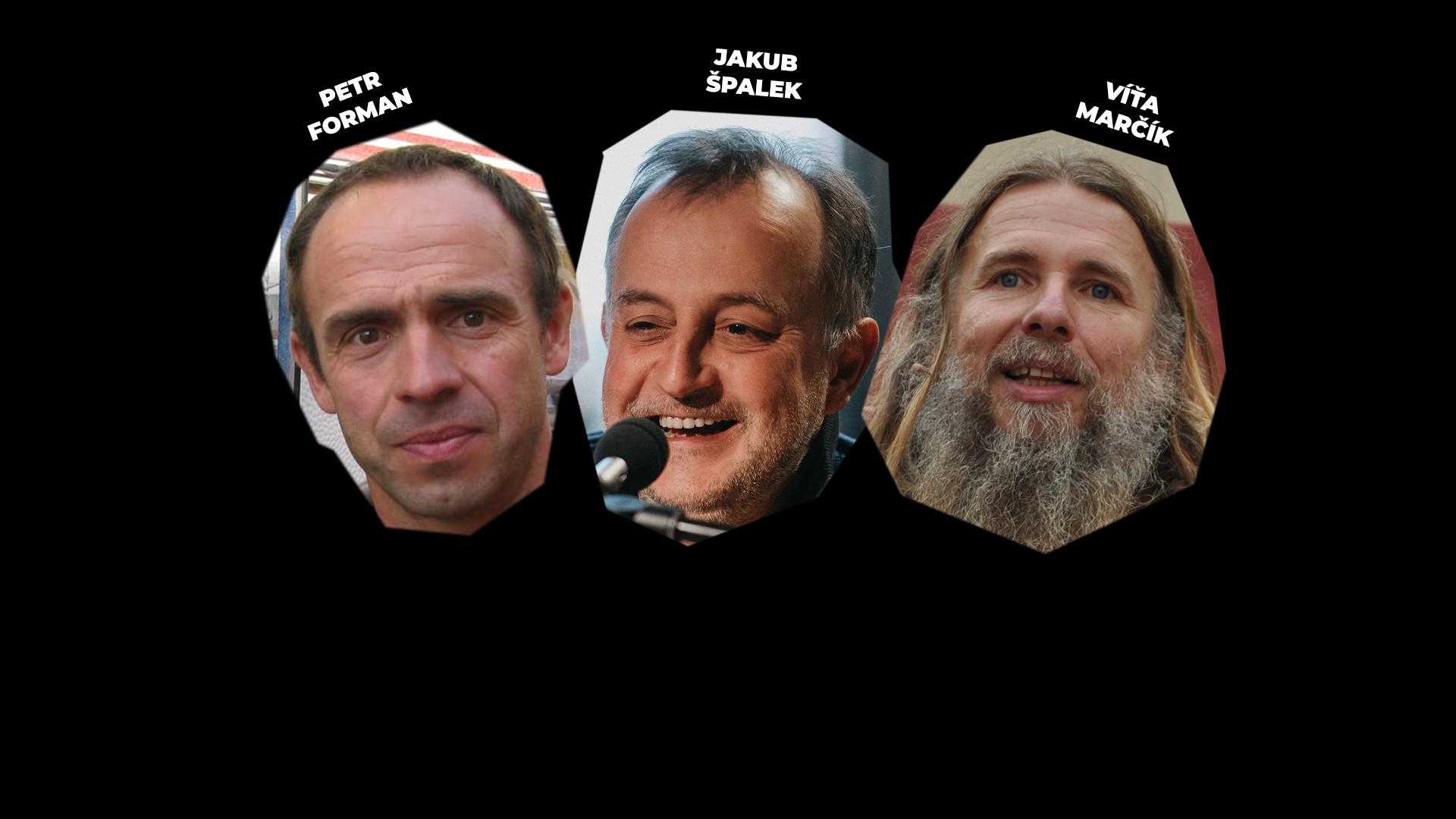 TŘI U STOLU – Petr Forman, Víťa Marčík a Jakub Špalek – záznam